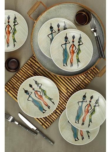Kütahya Porselen Kütahya Porselen Zeugma 6″Lı Pasta Takımı 85371 Renkli